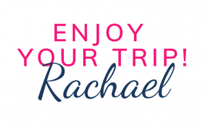 Enjoy your trip pink sign off
