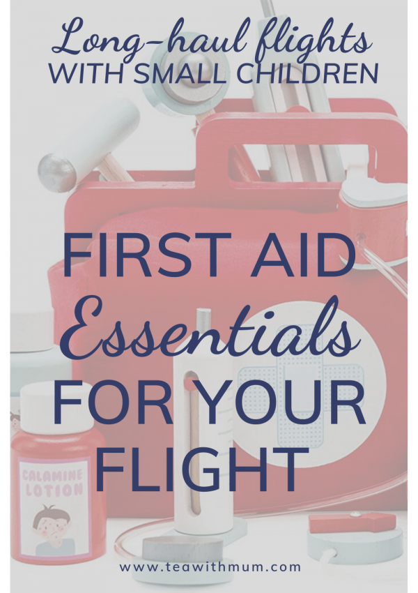 The essential first aid kit for long-haul flight with kids; what should be in your travel first aid kit; image of child's toy doctor's kit