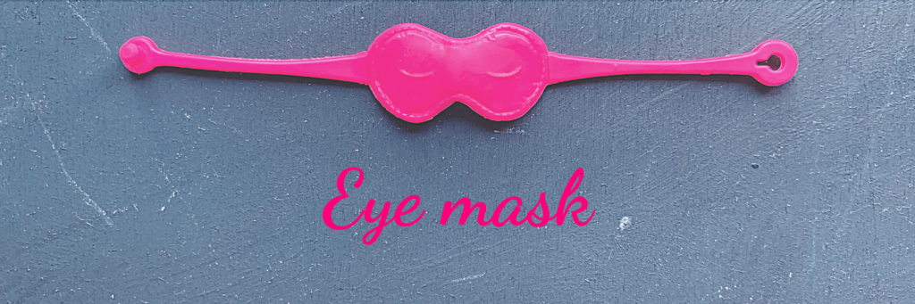 What can Barbie teach you about packing your carry-on: make any eye mask memorable