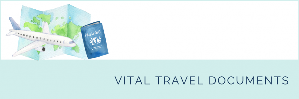 What not to pack in your child's carry-on: Vital travel documents.