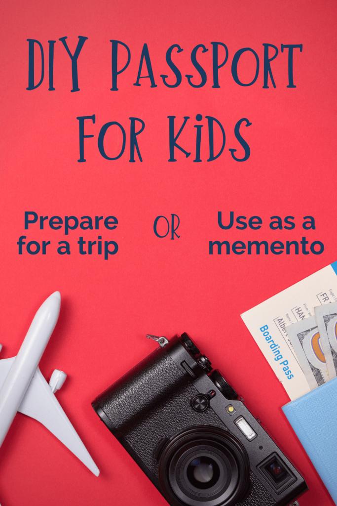 DIY passport for kids title