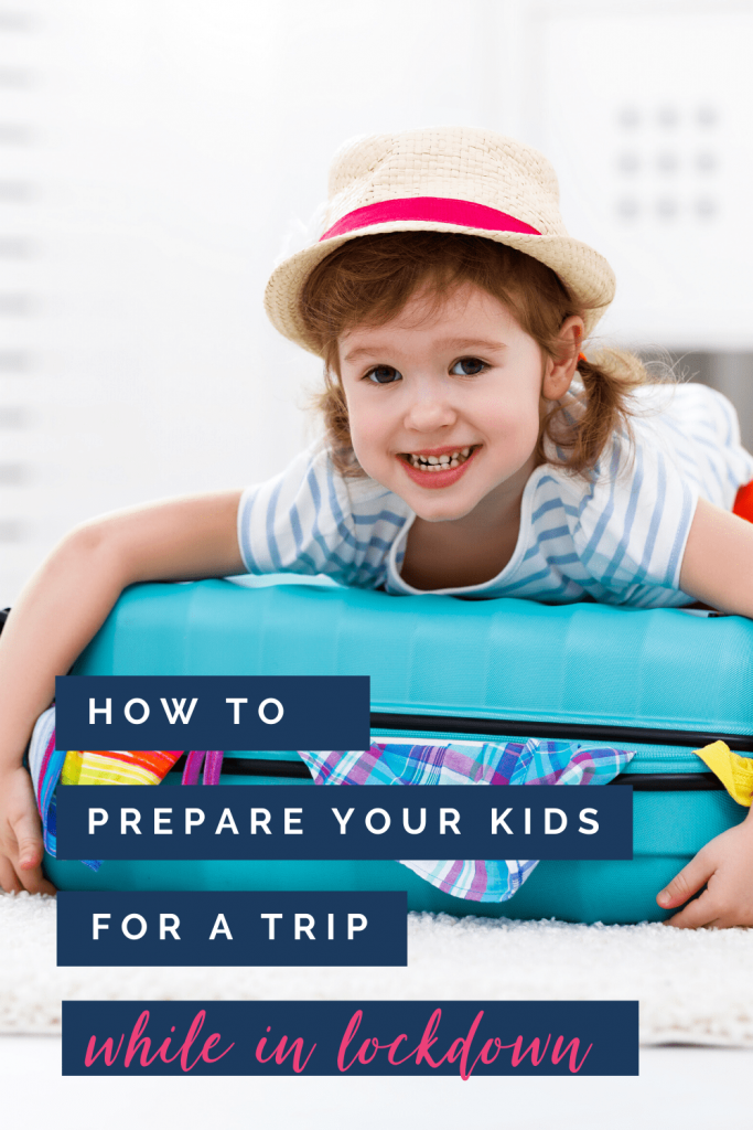 How to prepare your kids for a trip: child on suitcase