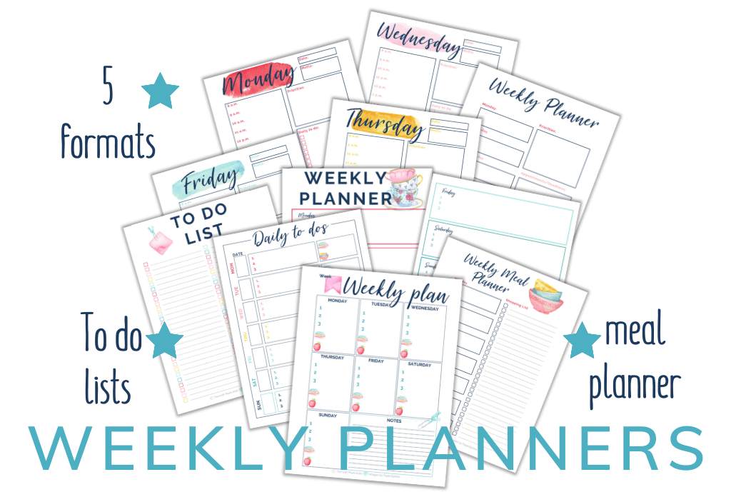 Subscribe to our emails to get access to all our Little helpers, including our weekly planners.