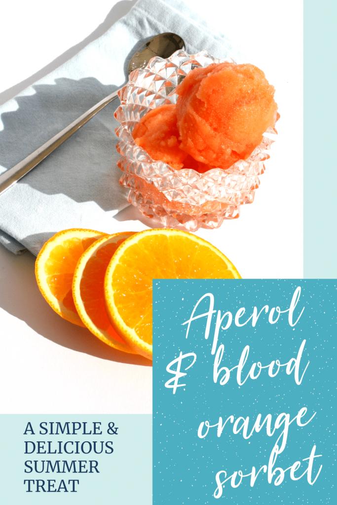 Aperol and blod orange sorbet
