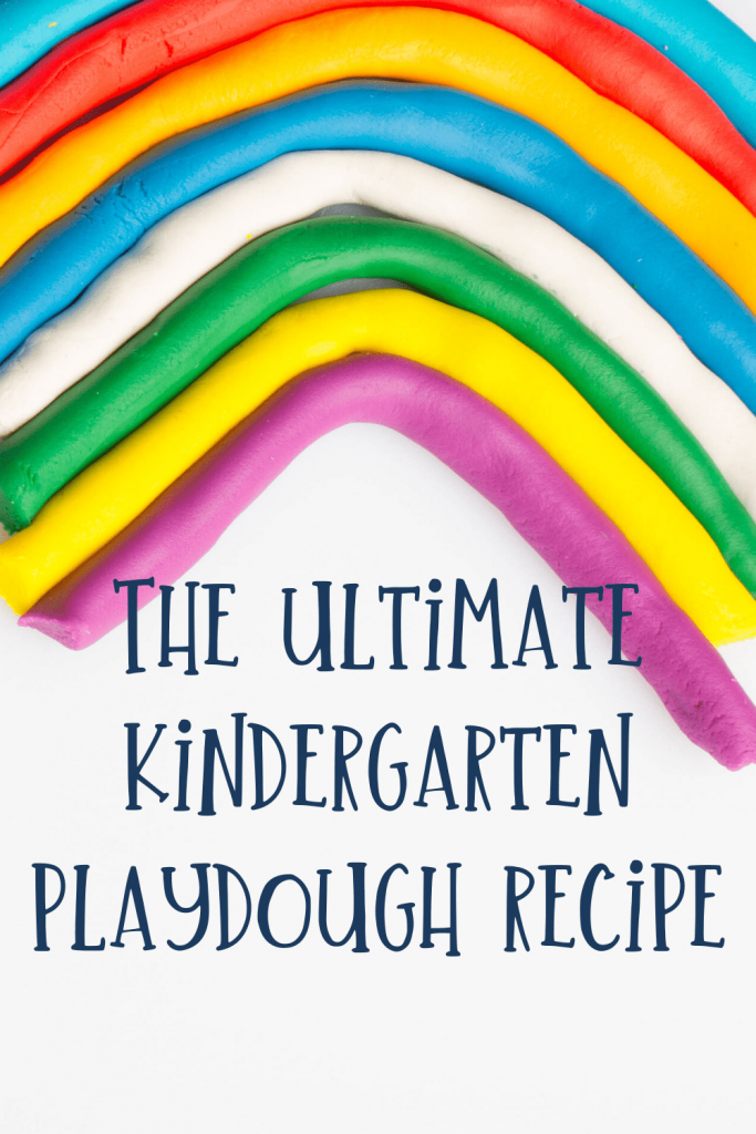 The ultimate kindergarten playdough recipe with playdough rainbow