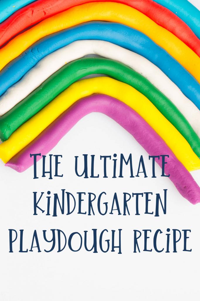 The ultimate kindergarten playdough recipe with playdough rainbow