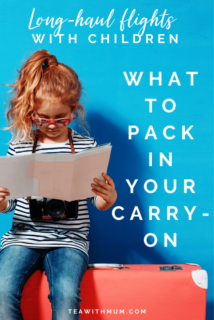 Carry-on essentials for a long-haul flight with a small child