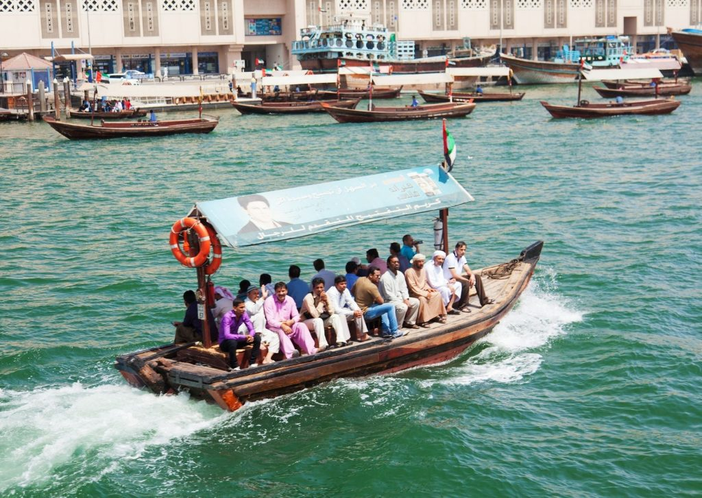 13 fun things to do in Dubai with kids: take a boat ride, like an abra ride across the Dubai Creek