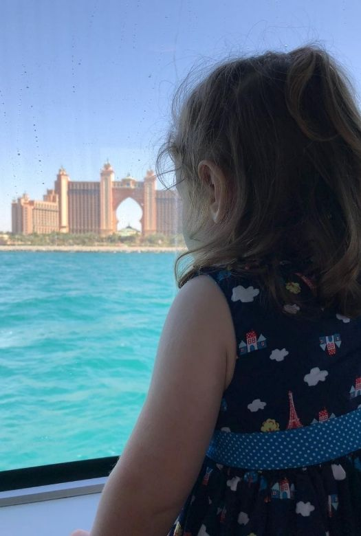 Things to do in Dubai for free - take the very cheap ferry from the old town to the Marina for great views of Atlantis/the Palm, the coastline and the Marina.