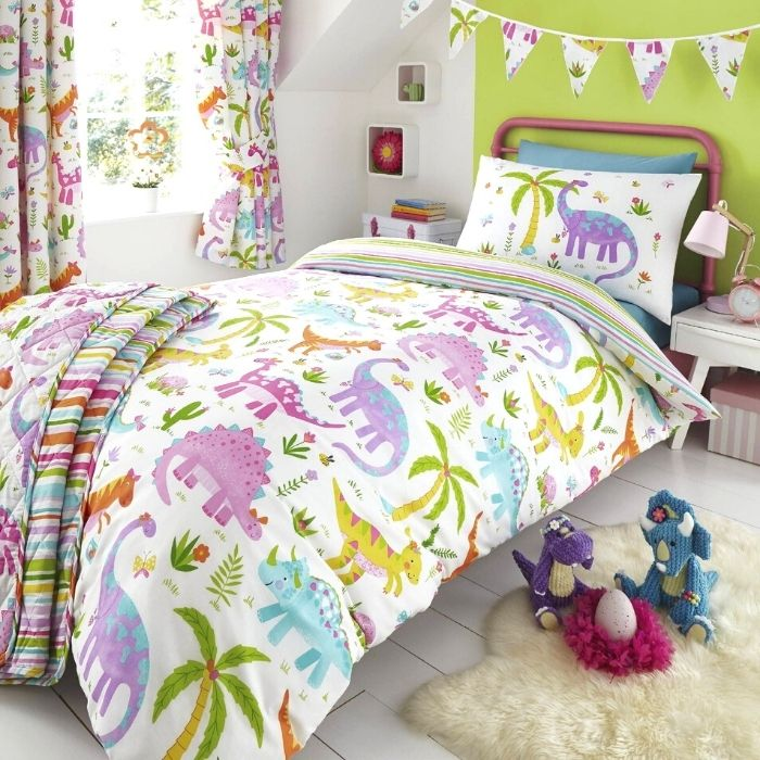 Gorgeous dinosaur bedding: 50+ dinosaur gifts for girls who love dinosaurs