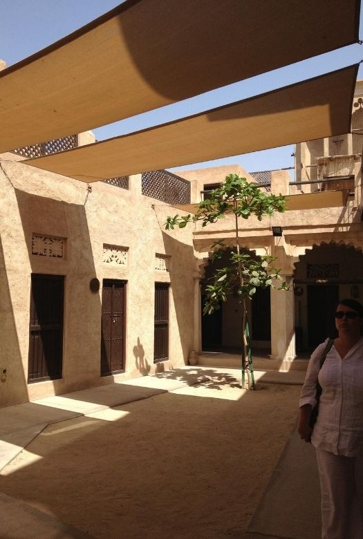 10 free things to do in Dubai with kids: the coin museum and its relaxing courtyards were surprisingly lovely