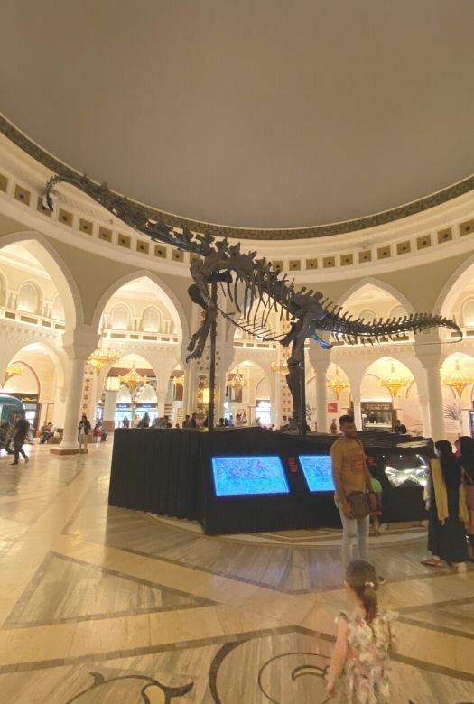 Free things to do in Dubai with kids: visit the Dubai Dino