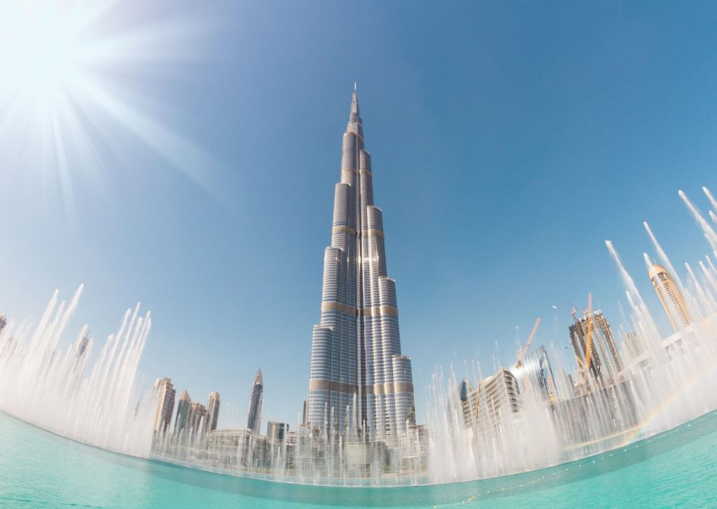 What to do in Dubai with kids of all ages: Go high! Find a place to see Dubai from above, such as from the observation deck of the Burj Khalifa.