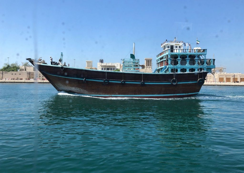 Things to do in Dubai with kids: if you really like boat trips, take a cruise on a dhow