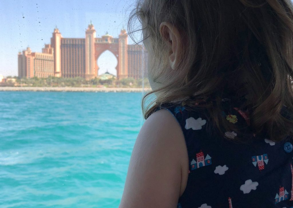 13 fun things to do in Dubai with kids: take a ride on the ferry (public transport) for great views of the Creek and coastline, including Atlantis, The Palm