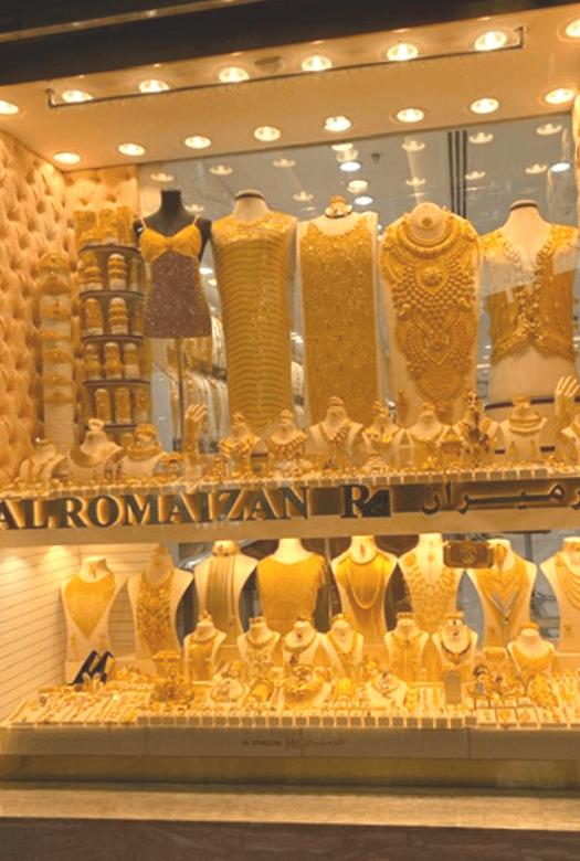 Visit the souks when visiting Dubai with kids: the gold souk