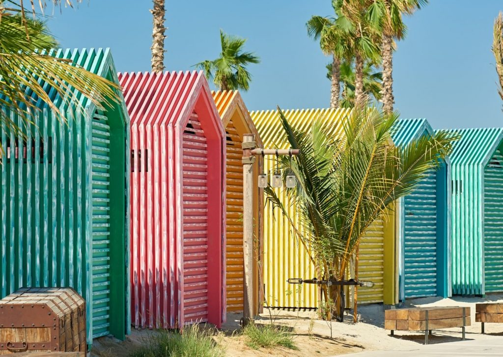 13 amazing things to do in Dubai with kids: become instagrammable, with these top Instagram sites: the colourful huts of La Mer