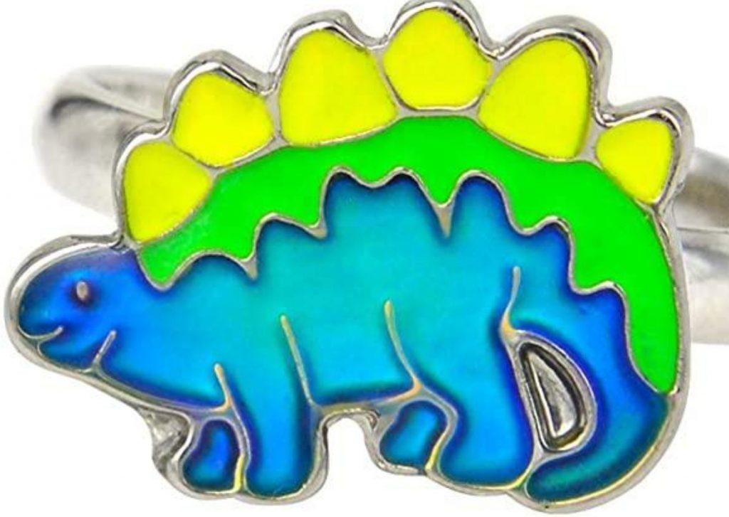 50+ cool dinosaur gifts for girls who love dinosaurs: stegosaurus mood ring