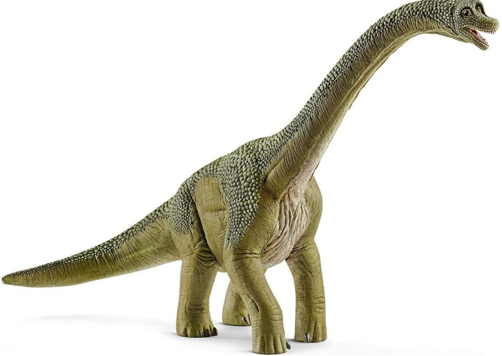 50+ cool dinosaur gifts for girls who love dinosaurs: Schleich dinosaurs, such as this Brachiosaurus