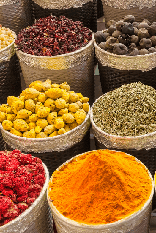 Visit the souks when in Dubai with kids: The spice souk