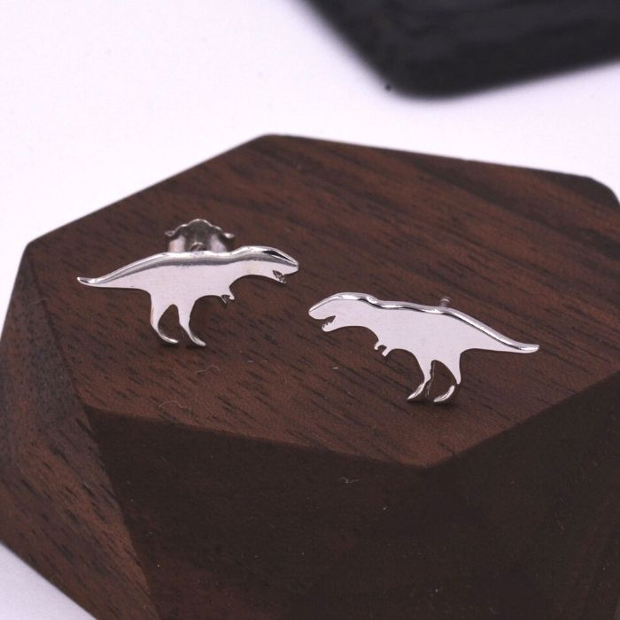 50+ cool dinosaur gifts for girls who love dinosaurs: T-Rex earrings