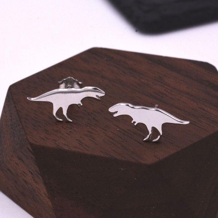 50+ cool dinosaur gifts for girls who love dinosaurs: T-Rex earrings