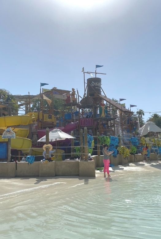 10 free things to do in Dubai with kids: visit Wild Waldi waterpark.