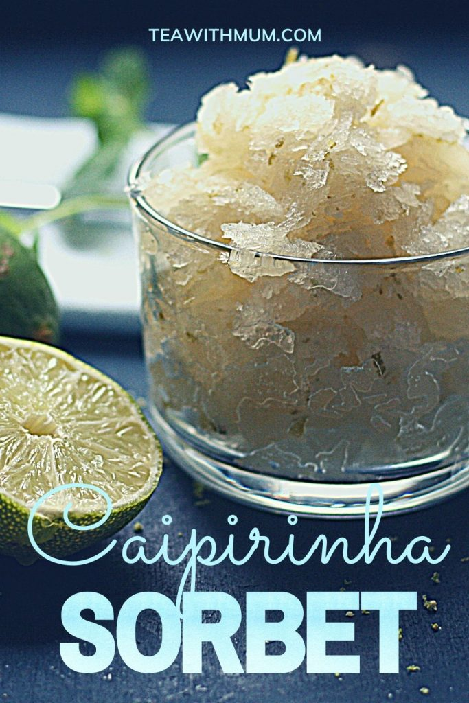 Pin: caipirinha sorbet - refreshingly simple