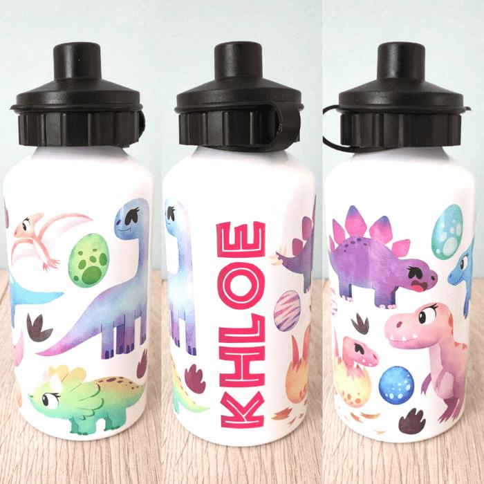 50+ dinosaur gifts for girls: dinosaur drink bottles