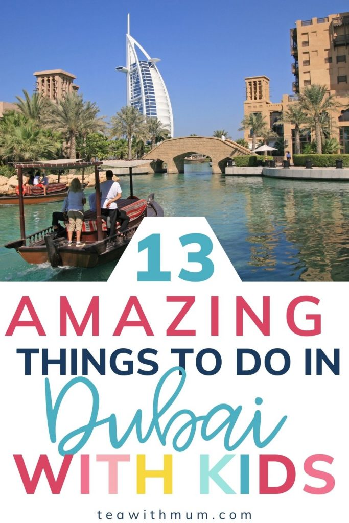 13 amazing things to do in Dubai with kids: pin with Jumeirah Madinat