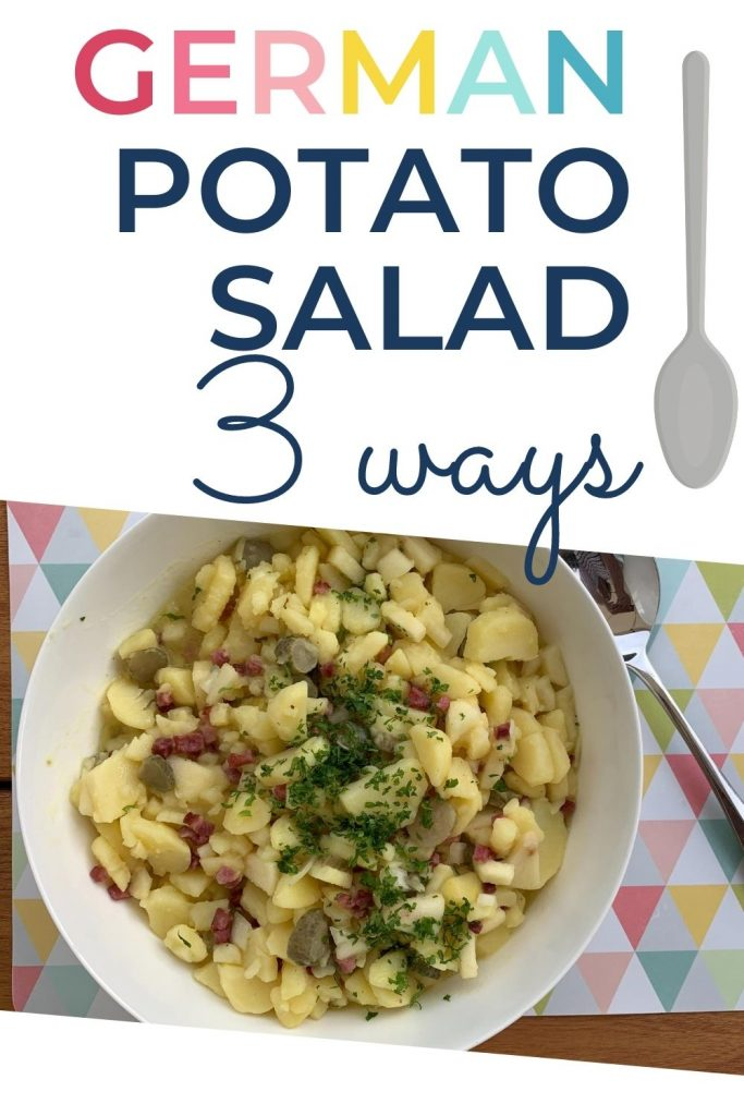 German-style potato salad, 3 ways; pin