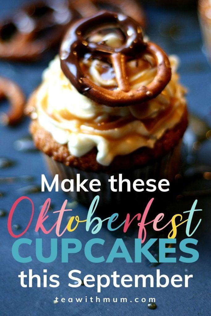 Oktoberfest cupcakes pin: beer cupcakes with beer caramel.