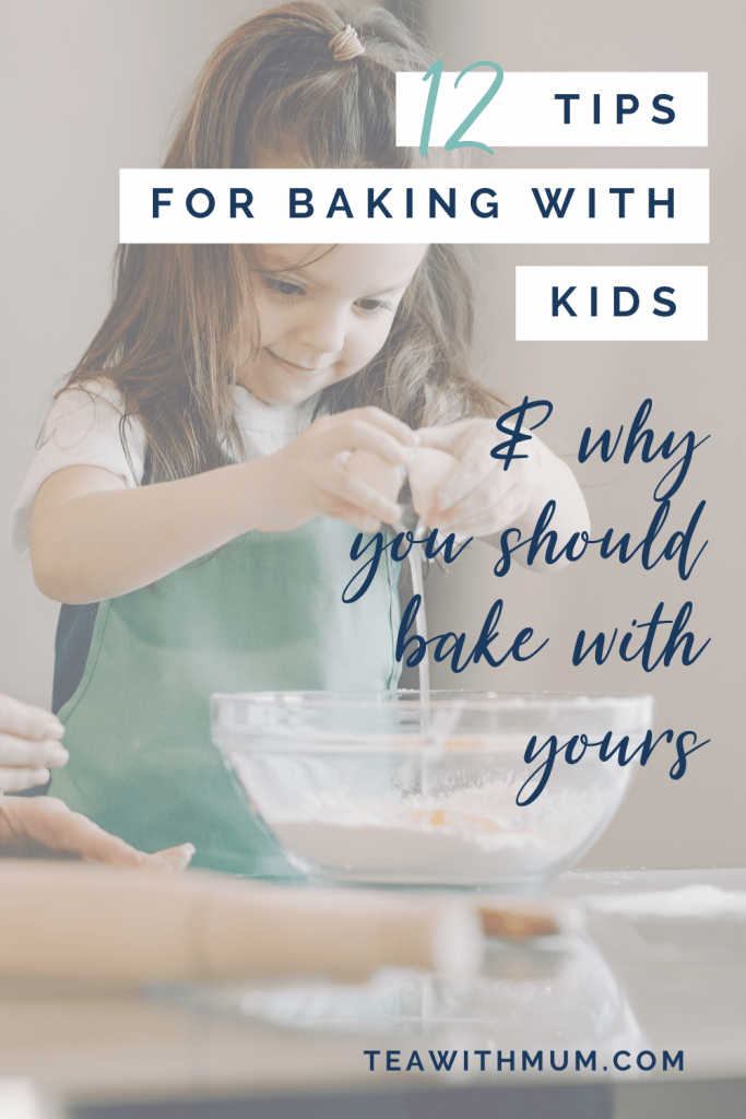 12 tips for baking with kids - with child breaking an egg