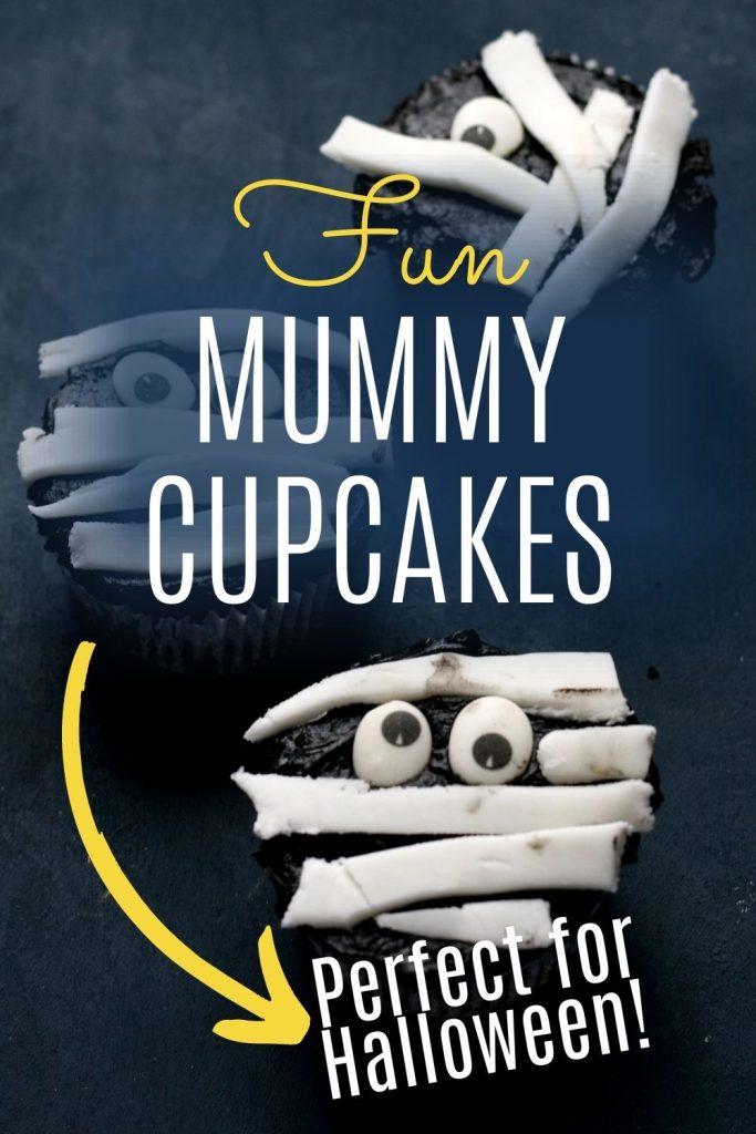 Fun Mummy cupcakes to make with kids - pin