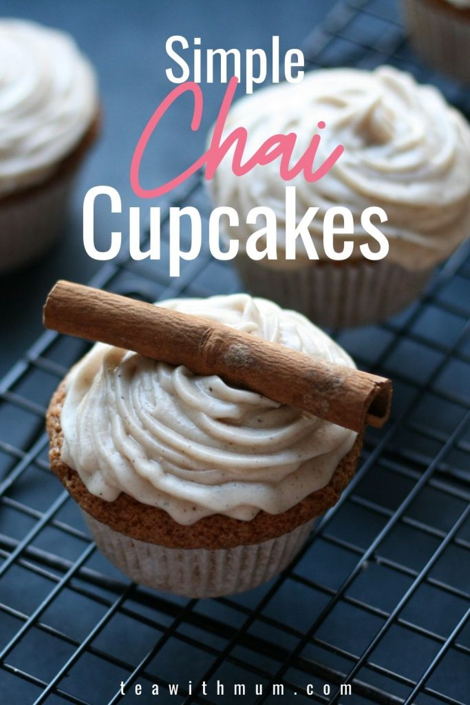 Delicious and simple chai cupcakes recipe - pin