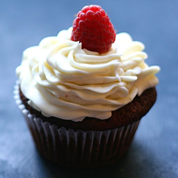 Simple. Delicious. Elegant. Red velvet cupcakes with white chocolate cream cheese frosting