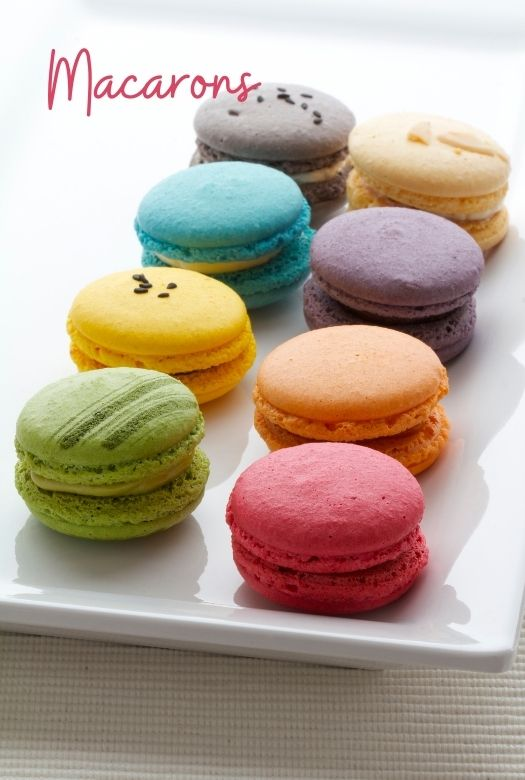 Plate of macarons, not macaroons