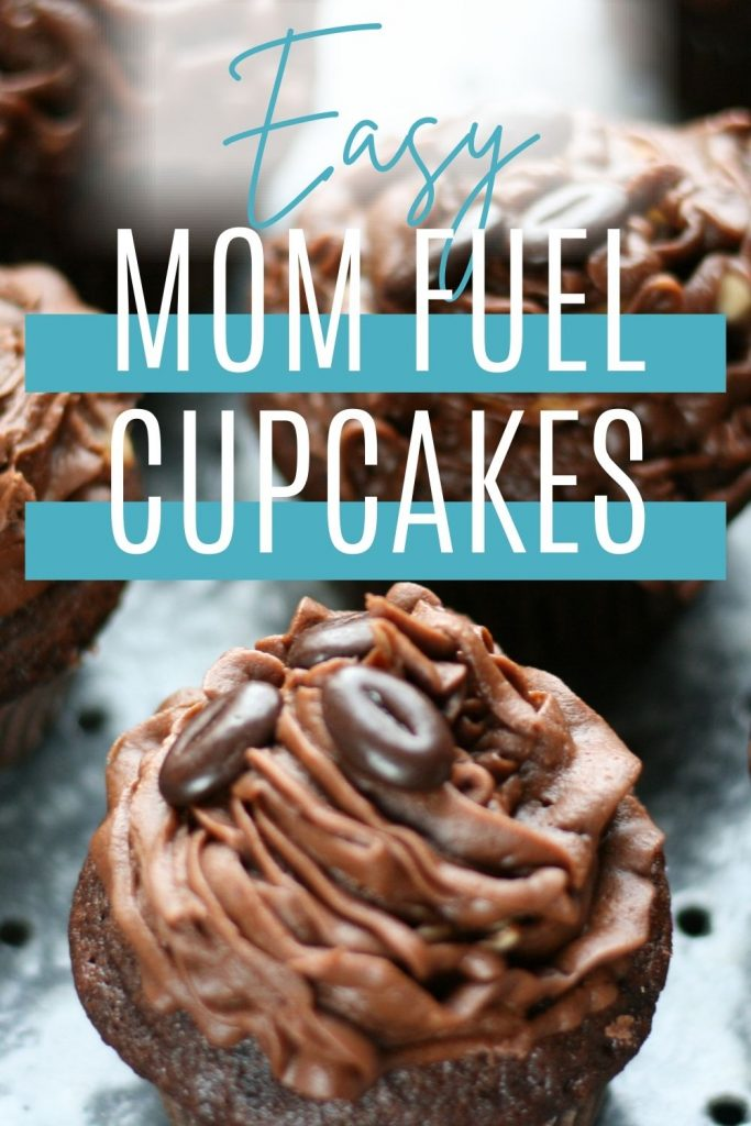 Pin: Easy mom fuel cupcakes: Delicious and easy mocha cupcakes with mocha frosting and chocolate-covered coffee beans
