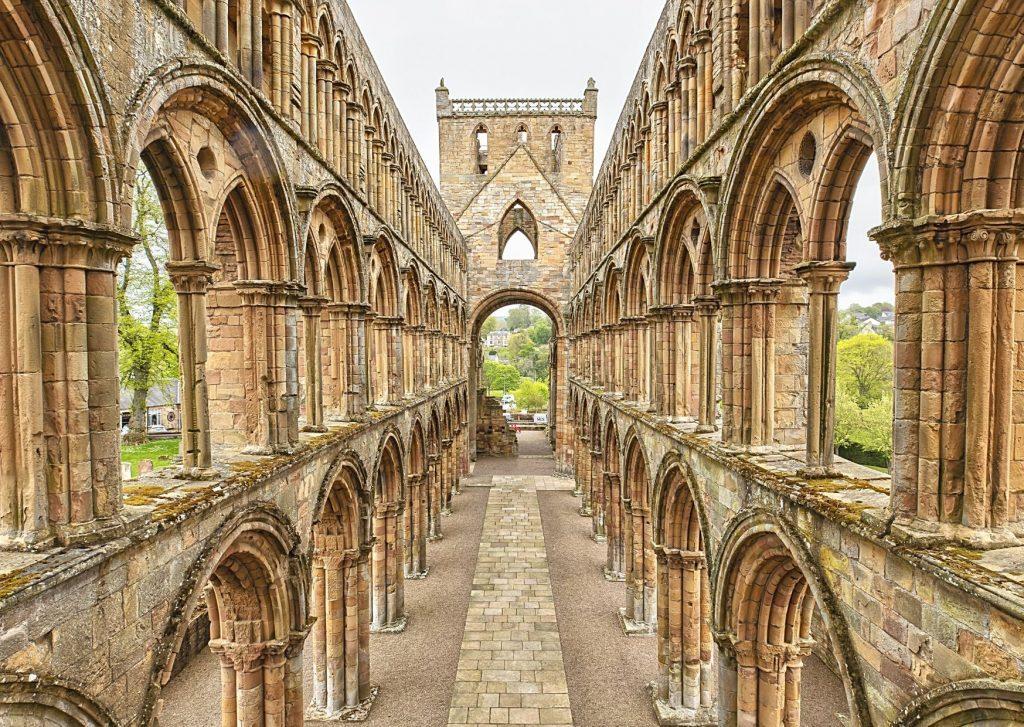 The ruins of Jedburgh Abbey