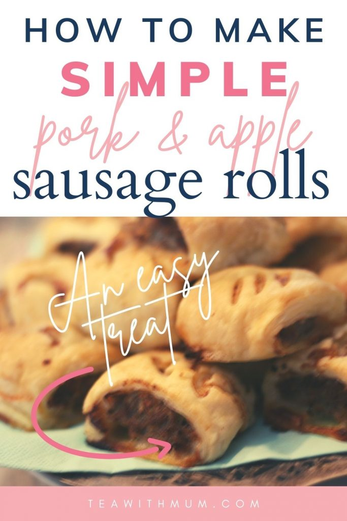 Pin: How to make simple pork and apple sausage rolls, an easy treat