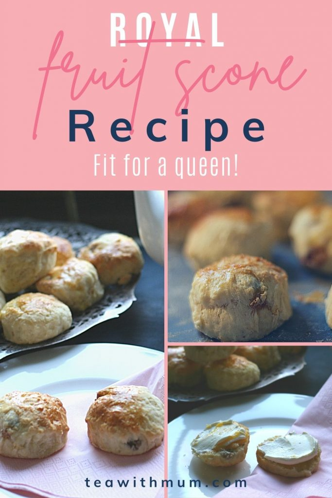Pin: Royal fruit scone recipe: Fit for a queen! With three images of Royal fruit scones