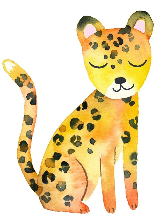 Watercolour cheetah image, for In a Nutshell