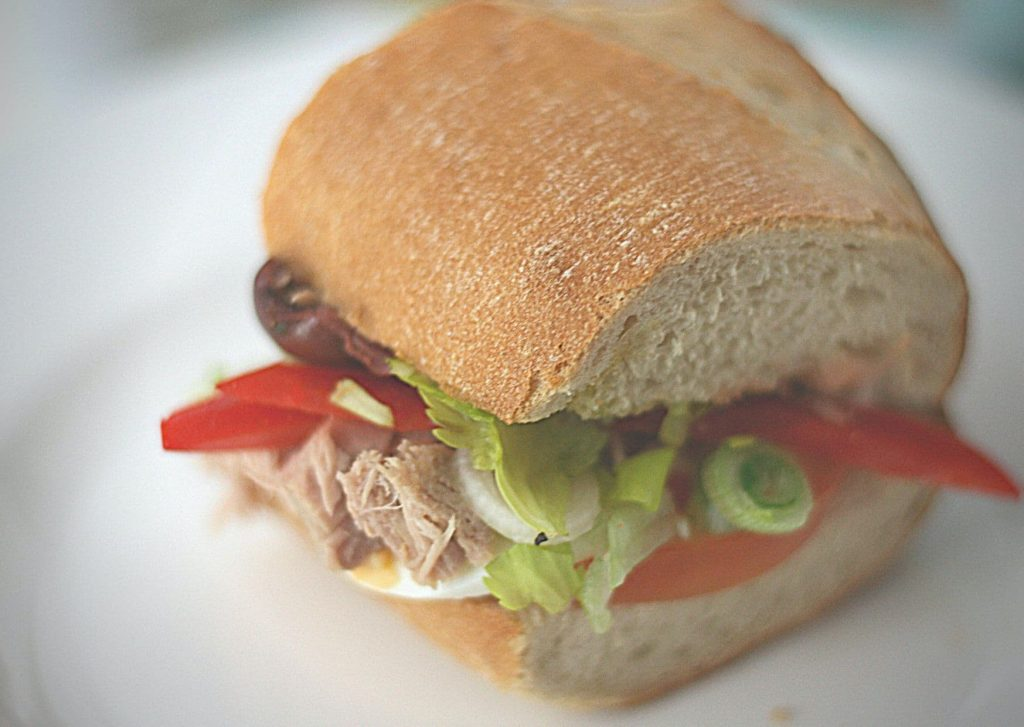 Delicious pan bagnat, one of the sandwiches in our French afternoon tea sandwiches quartet