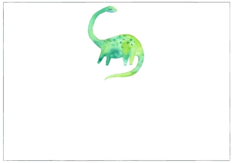 Watercolour Brachiosaurus: category image for Parenting category