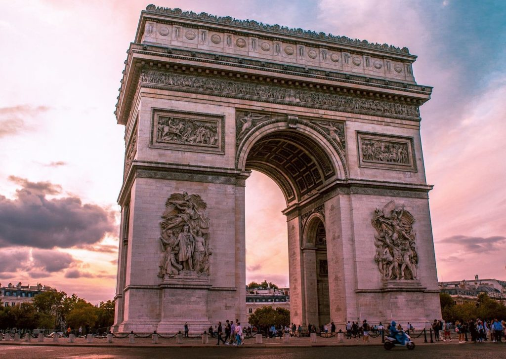 The Arc du Triomphe, one of the places we intend to visit while on our first post-COVID trip
