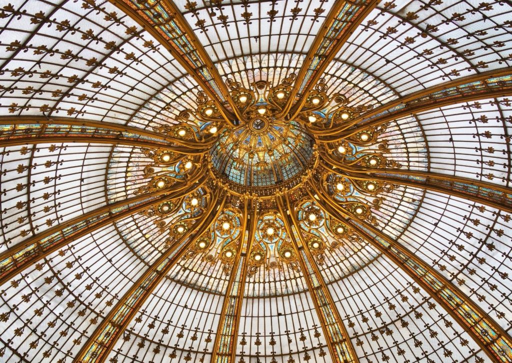 The glass Cupola of the Galeries Lafayette, which we are hoping to see while in Paris