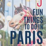 5 fun things to do in Paris with kids, for all ages and budgets, pin with image of a merry-go-round