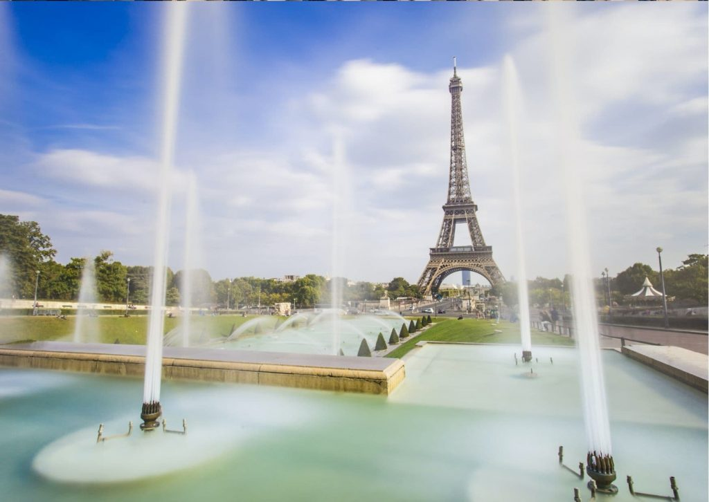 Marinette loves to hang out at Trocadero with her friends: Stop 2 on the tour of Ladybug's Paris is Trocadero for its views of the Eiffel Tower