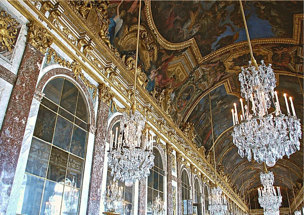 The Hall of Mirrors, one of the highlights of any visit to the Palace of Versailles with kids