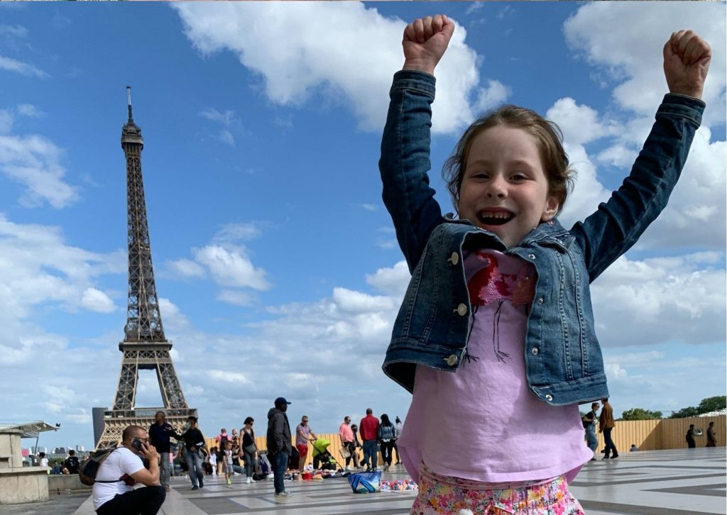 There's great views of the Eiffel Tower from Trocadero, both of which are part of our tour of Ladybug's Paris